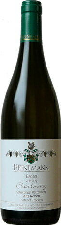シェルツィンガー バッツェンベルク Chardonnay Arte Leben kabinet grape ( Heinemann ) Scherzinger Batzeenberg Chardonnay Kabinett trocken (Heinemann)