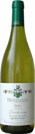 シェルツィンガー バッツェンベルク Chardonnay spätlese grape ( Heinemann ) Scherzinger Batzeenberg Chardonnay Spaetlese trocken (Heinemann)