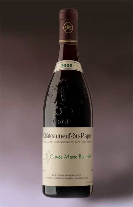 It is Chateauneuf du Pape Cuvee Marie Beurrier [2004] (Domaine Henri Bonneau) chateau ヌフ デュ パプキュヴェ Mary boo Rie [2004] (Henri Bono)