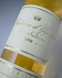 シャトー・ディケム[1998]ソーテルヌ・特別第一級格付けChateaud'Yquem[1998]PremiersCrusSuperieur【白ワイン】【貴腐ワイン】【極甘口】