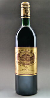 The fifth grade chateau バタイエ[1988]Medoc rating AOC ポイヤック Chateau Batailley [1988]