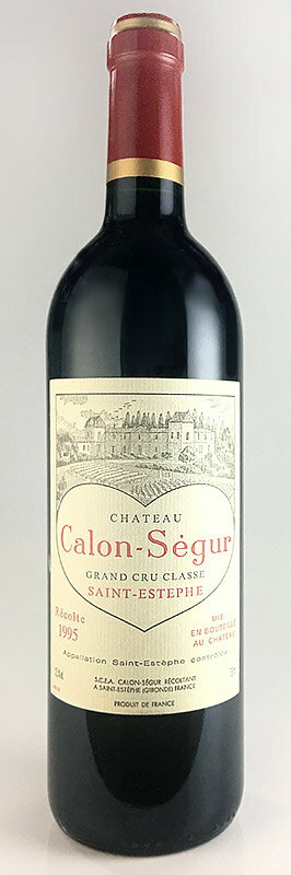 Chateau Karon Ségur [1995] Magnum size 1500 ml AOC Saint-Estèphe AOC Médoc ratings No. 3 luxury Chateau Calon Segur [1986] Saint-Estephe