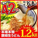 【送料無料】本場讃岐うどん製麺工場直送!1食あたり84円 讃岐うどん どかんっと1.2kg