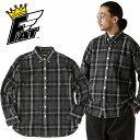 SALE・50%OFF【セール】FAT(エフエーティー) - FLAN BD - タータンチェックBIGボタン長袖フランネルシャツ(ネルシャツ)本品はポイント+1倍です!