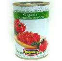 無農薬有機栽培トマトの缶詰イタリア産【オーガニック・ダイストマト(400g)】スピガドーロ