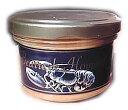【ロブスター・パテ(100g)】自然な材料だけから作られています。ミルクとバターがたっぷりで焼き立てパンにさっとなじみます♪