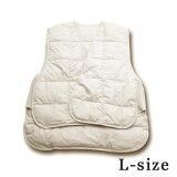 【イワタ|イワタ寝具|iwata|】イワタ|イワタ寝具|iwata|ダウンロングベスト(羽毛ロングベスト)Lサイズ