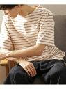 [Rakuten Fashion]【SALE/50%OFF】FORK&SPOON ボートネックボーダーショートスリーブTシャツ DOORS アーバンリサーチドアーズ カットソー Tシャツ【RBA_E】