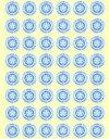 【新品】【本】課題達成シール 大(Blue) 240片