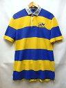 RUGBY Ralph Lauren ラグビー ラルフローレン ワンポイント刺繍 ダメージ加工 半袖 ラガーシャツ 青 黄 サイズ:L 【中古】【送料無料】