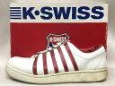 K-SWISS ケースイス CLASSIC クラシック レザー スニーカー 白 赤 サイズ:25.5cm 【中古】【送料無料】