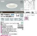 【新品】 コイズミ照明 屋内屋外兼用パネルシリーズダウンライト調光タイプ(白熱球100W相当)昼白色 AD71003L