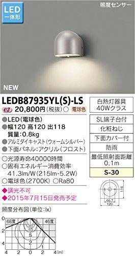 【新品】 オンライン 東芝ライテック LED一体形アウトドアブラケット 照度センサー付表札灯 ウォームシルバー 120×120:ドリエムコーポレーション 家電品