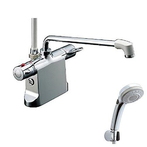 【新品】 LIXIL(リクシル) INAX 浴室用 台付 サーモスタット付シャワーバス水栓 エコフルスイッチ多機能シャワー オンライン BF-B646TSBW(300)-A100:ドリエムコーポレーション