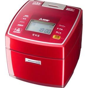 【新品】 三菱 IHジャー炊飯器(5.5合炊き) ルビーレッドMITSUBISHI NJ-VV106をベースにしたJoshinオリジナルモデル NJ-V10J4-R