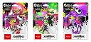 【中古】スプラトゥーンシリーズ amiibo3種セット(ガール【ネオンピンク】 ボーイ【ネオングリーン】 イカ【ネオンパープル】)