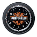 【純正品】HARLEY-DAVIDSON◆ハーレーダビッドソン・Chrome-plated Bar & Shield Logo Clock・B&S・ウォールクロ...