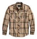HARLEY-DAVIDSON(ハーレーダビッドソン)純正品【数量限定】メンズ 長袖シャツ・ユーズド加工と落ち着いた色合いがお洒落な長袖シャツです☆