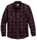 HARLEY-DAVIDSON(ハーレーダビッドソン)【純正品】【数量限定】メンズ ボタンシャツ・暖かみのあるチェックカラーに、さり気無いハーレーロゴがオススメのネルシャツ