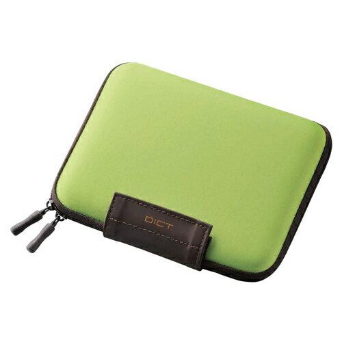 代引不可 エレコム 電子辞書ケース 2way イヤホン/タッチペン/SDメモリ収納ポケット付 グリーン(グリーン)