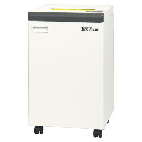 代引不可 明光商会 MSシュレッダー MSD−F31MF ワンカットクロス 対応サイズ:A3 容量:76L(ホワイト)