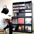 【ポイント10倍】【代引き可】レコード収納棚 レコードケース レコードラック ディスプレーラック ディスプレイラック 6マス ブックシェルフ 本棚 飾り棚 LP収納 絵本収納 record rack