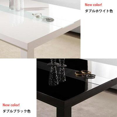 こたつコタツKotatsu本体テーブル長方形120炬燵火燵モダン鏡面仕上げ薄型フラットヒーター脱臭機能付き