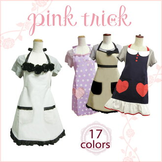 Add a new color! ☆ pink trick apron cooking, housework, and fun women's power UP design! | fs3gm