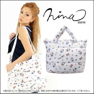 ニーナミュウ bag Kitty pattern nylon that bag LARGE Kitty Hello Kitty Sanrio shoulder bag women's fs3gm