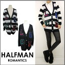 Half man [HALFMAN] sale tops LUCK JACQURRD CARDI(HLCD16032) knit / cardigan /| Long sleeves / sweater | It is [fs2gm] [_spsp1304 less than half price] [I send it immediately] [RCP]