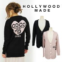  MISS HEART CARDIGAN| cute the COCO logo of the HOLLY WOOD MADE[ Hollywood maid] sale tops Bucks tile Knit / long sleeves / cardigan /| It is [fs2gm]] [RCP] to send immediately [_spsp1304 less than half price] [W12302KC][