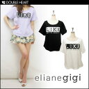 choosy chu[ ] elianegigi[ ] Lady's tops short sleeves T-shirt LIKE T-shirt | Logo cut-and-sew  brand | [2013 spring clothing new works] [RCP] is [fs2gm] [send it immediately]