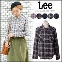 Lee リー WESTERN SHIRT ウエスタンシャツ レディース シャツ チェックシャツ ブランド 長袖 LT0974