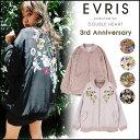 \残りわずか!再入荷なし!/EVRIS エヴリス 3rd Anniversary FLOWER刺繍リバーシブルMA-1 レディース MA-1 ブルゾン リバーシ...