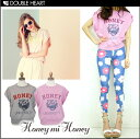 Honey me honey [Honey mi Honey] Yumi Itano order  logo cut-and-sew | Lady's / mail order /| It is [fs2gm] T-shirt / short sleeves [2013 new works in the spring and summer] [I send it immediately] [free shipping] [smtb-MS]