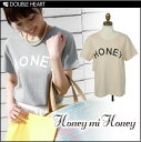Honey me honey  [Honey mi Honey]T shirt Lady's short sleeves logo logo T-shirt | Saeko order  | [2013 new works in the spring and summer] [send it immediately] [fs2gm]