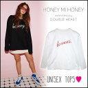 ハニーミーハニー HONEY MI HONEY doublelovers×HONEY longTshirt ロングTシャツ レディース メンズ ユニセックス ト...
