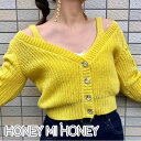 【ポイント10倍!】ハニーミーハニー HONEY MI HONEY 通販 12月上旬予約 mohair knit