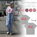 《全品★P5倍》ハニーミーハニー HONEY MI HONEY 『H.L.EDITION』 logo T-shirt 4月上旬予約 tシャツ 半袖 レディース メンズ ユニセックス お揃い ペア TEE ロゴ 18S-WV-22