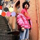 【SALE70%OFF】ジュエティ jouetie 通販 リバーシブルカラーダウン アウター ダウンジャケット ダウン フェザー フード リバーシブル 2way メンズライク オーバーサイズ ショート丈 ブラック ピンク オレンジ ラベンダー イエロー 081950200201