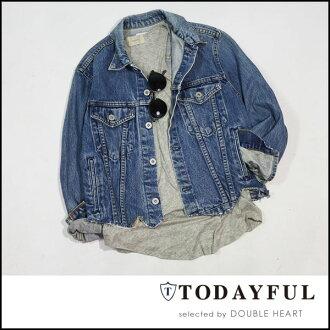 今天為生活的商店 (3 個月晚保留) JK 牛仔布截止牛仔截止夾克女式外套夾克的牛仔 G 吉恩-11710102 的 TODAYFL