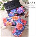 rienda リエンダ オリエンタルプリントフラップロングウォレット レディース ウォレット 財布 長財布 二つ折り 花柄 r03509208