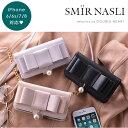 サミールナスリ SMIR NASLI Ribbon Mobile 6/7 リボンモバイル iPhone iPhone7 iPhone6/6S iPhoneケース ケース カバー リボン パール ミラー カード 手帳型 ショルダー チェーン 合皮 レザー 0110-32059