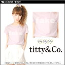  &amp; Coe [titty&amp;amp;co] Lady's T-shirt tops short sleeves logo opal logo TEE| []| in the spring and summer latest 2013] [RCP] [fs2gm] [send it immediately]