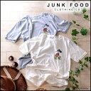 ジャンクフード JUNKFOOD レディース Tシャツ カットソー ミッキー ディズニー キャラクター SUNGLASS MICKEY