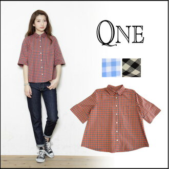 萬維網 (WAN) 商店檢查襯衫 (預定) (來自我們股票的 4 月底) 女士襯衫,罩衫短袖子短的袖子簡單基本的博客 insta #QNE