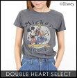 《DOUBLE HEARTセレクト》Mickey and Friends レディース Tシャツ 半そで 半袖 ディズニー Disney キャラクター ミッキー ヴィンテージ ダブルハート