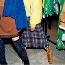 【ポイント10倍】スナイデル SNIDEL 通販 ウールロービングスカート レディース スカート チェック柄 柄 チェック レースアップ スリット リボン フリンジ ウール Iライン ベロア グリーン swfs184141