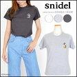 スナイデル snidel DisneyコラボTシャツ トップス レディース Tシャツ ミッキー mickey プリント シンプル キャラクター コラボ swct162132