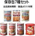 保存缶7種セット【5年保存】【非常食】【グリコ】【ブルボン】...